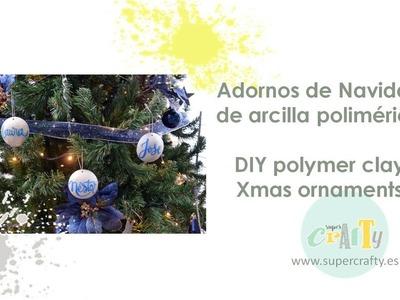Adornos de Navidad en arcilla polimérica
