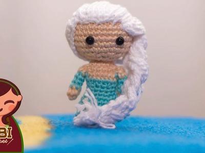 Amigurumi | como hacer Elsa , frozen en crochet | Bibi Crochet