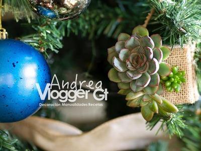 Arreglo de suculentas para el árbol de navidad || Succulent arrangement for Christmas Tree