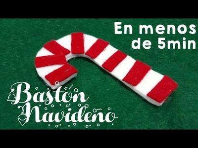 BASTÓN NAVIDEÑO - PARA ÁRBOL DE NAVIDAD