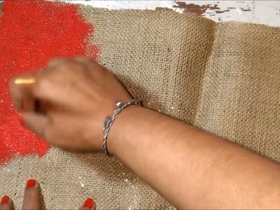 Como hacer bolsitas navideñas de arpillera manualidad paso a paso-DIY NAVIDAD