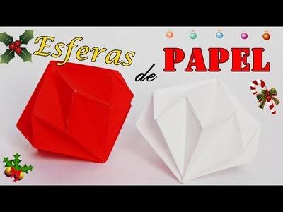 CÓMO HACER ESFERAS DE PAPEL | DIY DECORACIÓN NAVIDEÑA manualidades