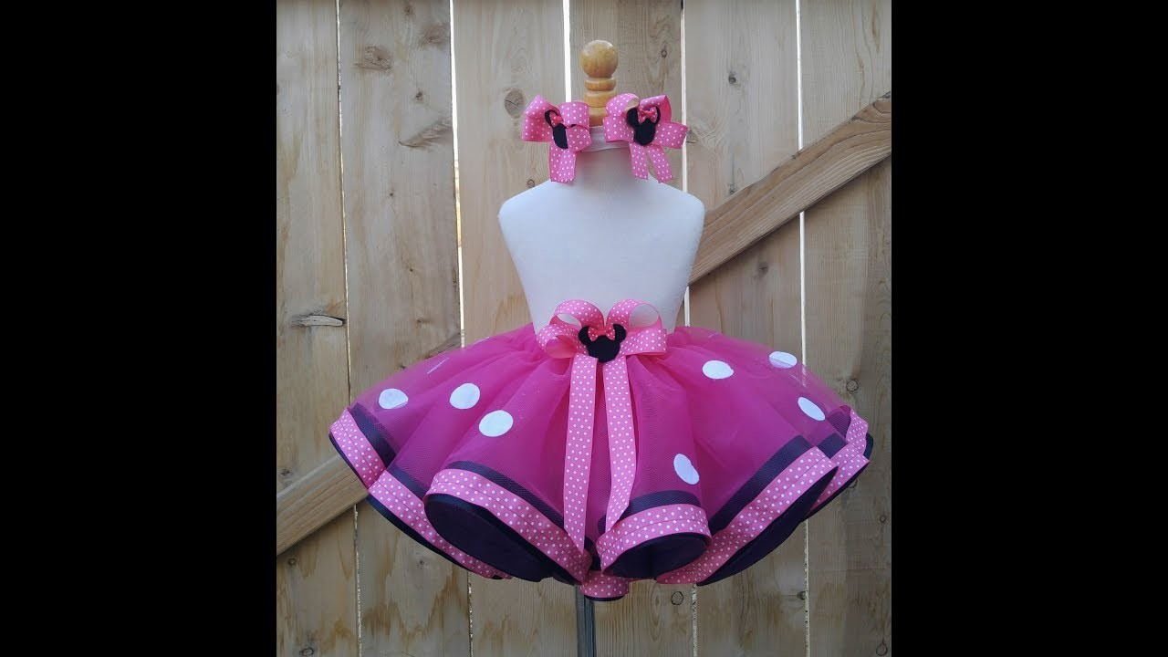 Como hacer un tutu con doble listón ~ How to make a ribbon trim Tutu