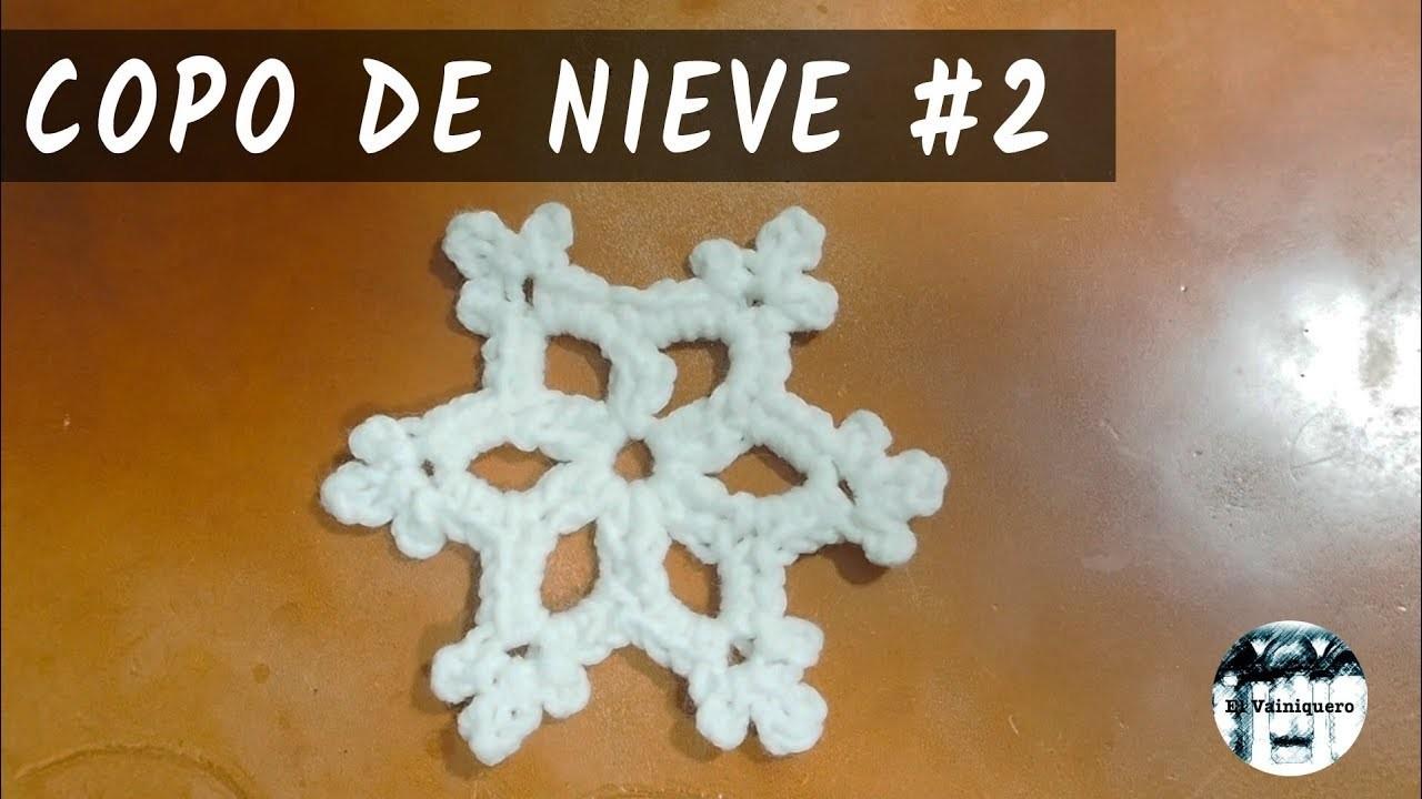 Copo de nieve #2 - Adorno de Navidad - Crochet