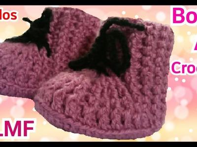 Crochet: Botas Para Niña Tejidas - Manualidades La Manita Felíz