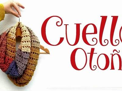 Cuello Otoño Infinito a crochet