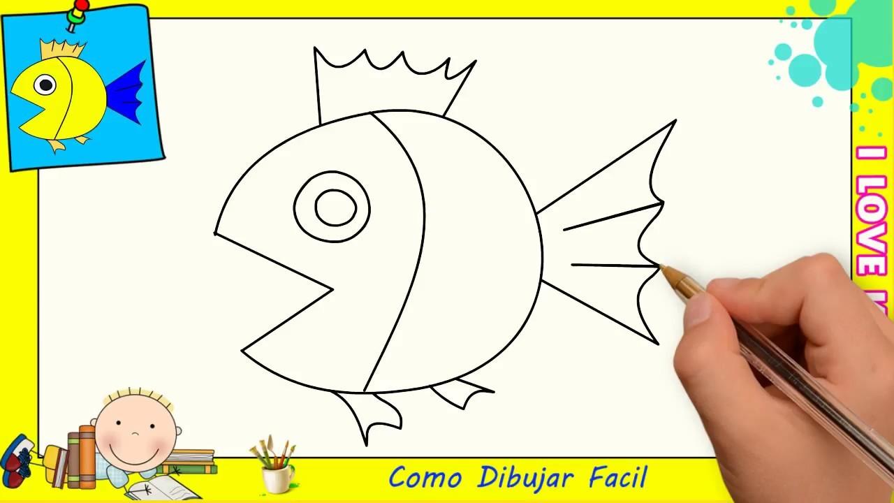 Dibujo Como Dibujar Un Pez Facil Para Niños - Importancia ...