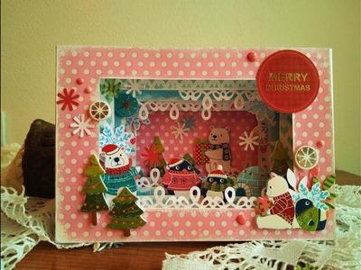 Diorama Navideño - TUTORIAL - Christmas Diorama