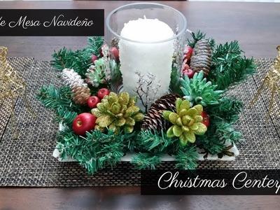 DIY Centro De Mesa Navideño Dollar Tree Store| Christmas Centerpiece DIY | Home Deko Channel 2018
