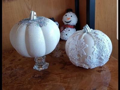 DIY Como decorar calabazas de navidad
