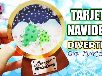 DIY Tarjeta para regalar en Navidad, Globo de Nieve por DIY con Marlene Campos