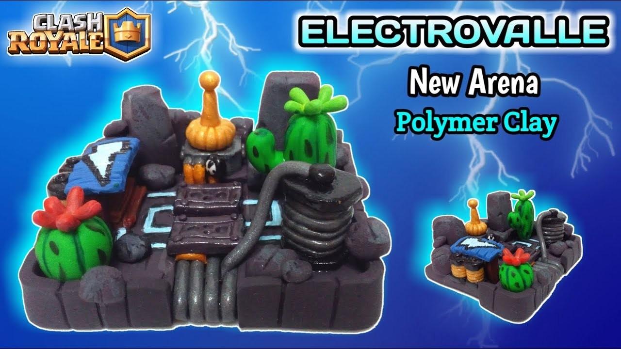 Electro Valley Arena   Clash Royale   Polymer Clay Tutorial