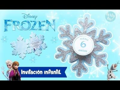 Frozen ❄️ -  Invitación de frozen + Moldes gratis (DIY) | Party pop!???? | Invitación infantil