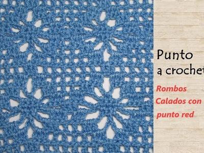 Hermoso punto a crochet Rombos Calados - Mi Rincón del Tejido