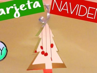 LA MEJOR TARJETA NAVIDEÑA 3D DIY | Manualidades de navidad