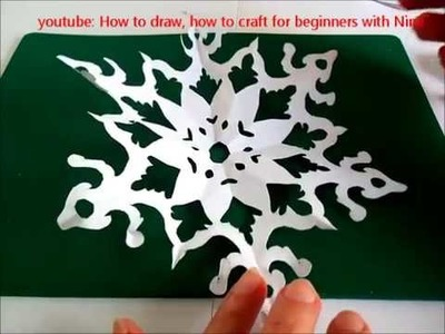 Manualidad como hacer Copo de nieve de papel. DIY Como fazer flocos de Neve de Papel