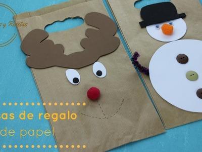 Manualidades de Navidad: ¿Cómo hacer una bolsa de regalo?. MANUALIDADES Y RECETAS