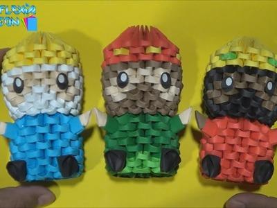 Origami 3D   Los 3 Reyes Magos