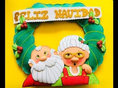 Pareja Noel paso a paso - Craft DIY manualidad navidad en foamy.goma eva.microporoso