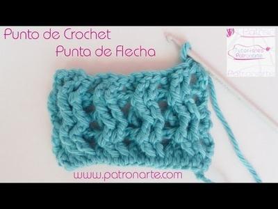 Punto de Crochet Punta de Flecha