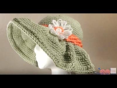 Teje un hemoso sombrero turistico. touristic crochet  hat
