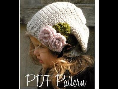 Top 10 crochet gorros caídos o slouchy hat, boinas de ganchillo tejidas a mano