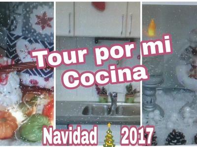 TOUR POR MI COCINA ???? , IDEAS COMO DECORAR LA COCINA PARA NAVIDAD 2017. Alegrias Cubitavlogs