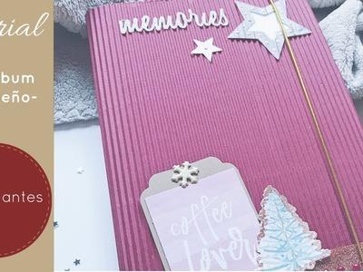 TUTORIAL: Mini álbum. Diario de navidad | Scrapbook principiantes