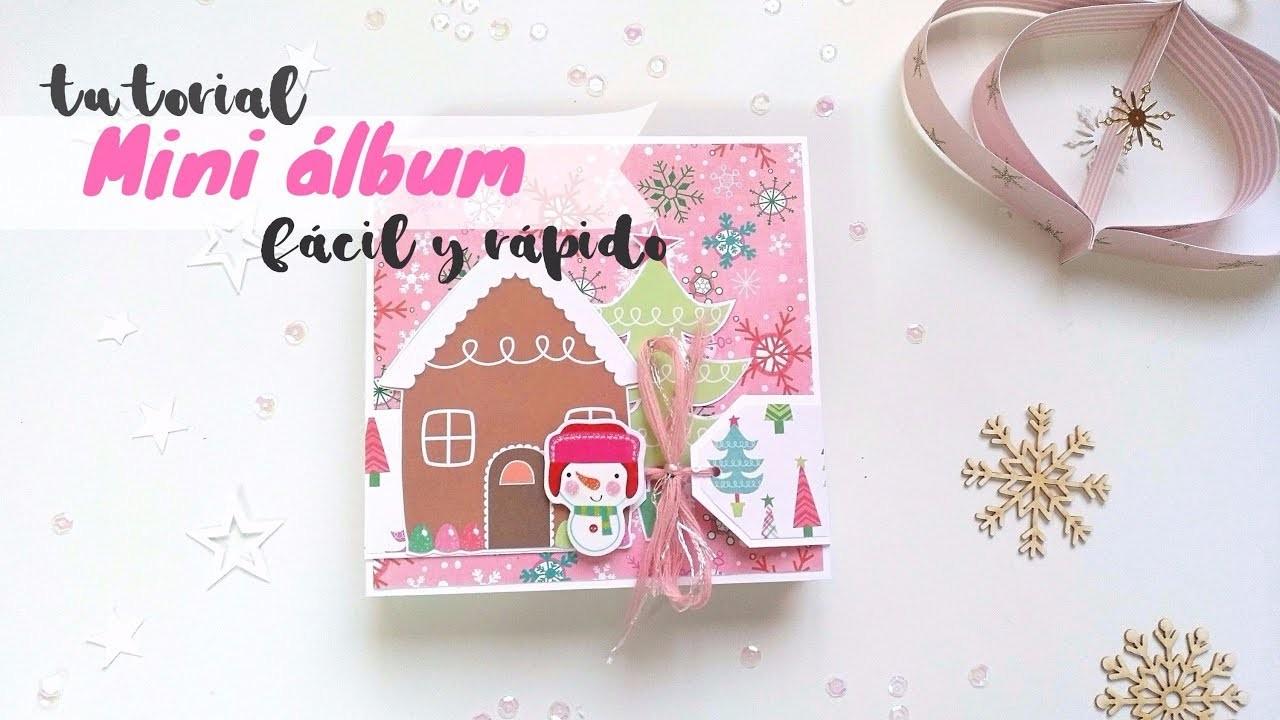 Tutorial mini álbum scrapbooking navideño fácil, rápido y con pocos materiales |Scrapeando con Rocío