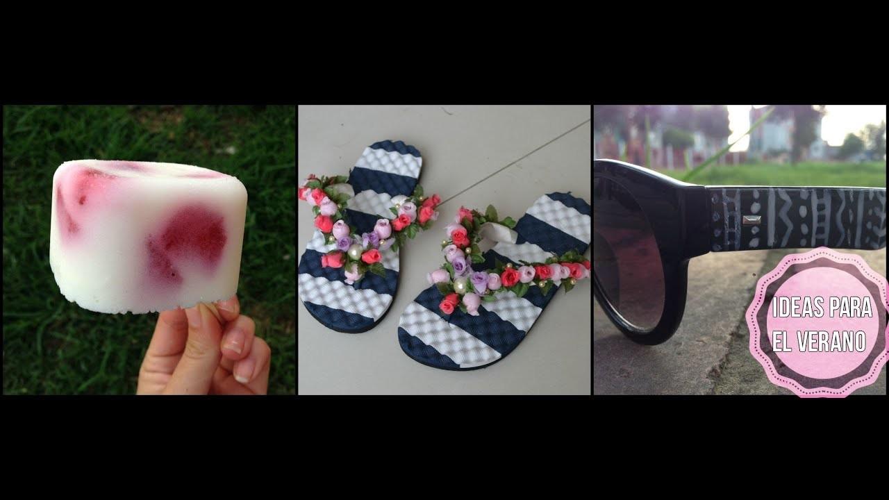 3 IDEAS PARA EL VERANO (helados saludables, sandalias y lentes de sol originales)