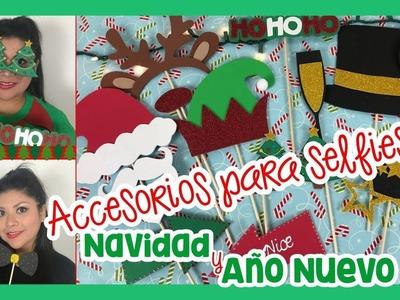 ACCESORIOS PARA SELFIES - Navidad y Año Nuevo! (Imprimibles gratis!)