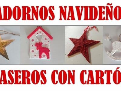 Adornos Navideños de Carton Para el Arbol de Navidad [FACIL Y ECONOMICO]