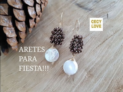 ARETES PARA FIESTA!! Con Cecy Love Bisuteria