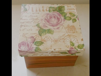 Caja vintage con sellos y decoupage  - Llushmay andrea