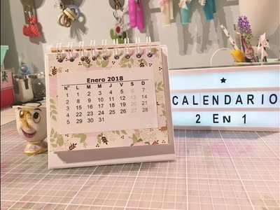 Calendario 2 en 1.TUTORIAL SCRAPBOOKING