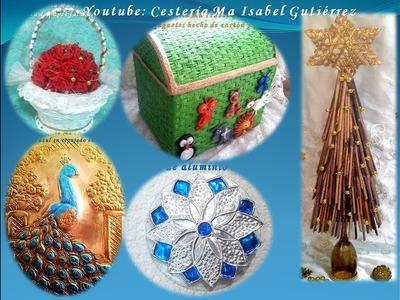 Cincuenta adornos de Navidad con material reciclado. INVITACIÓN  a participar en mi vídeo