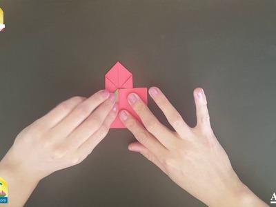 Cohete de Origami. Origami Rocket Papercraft