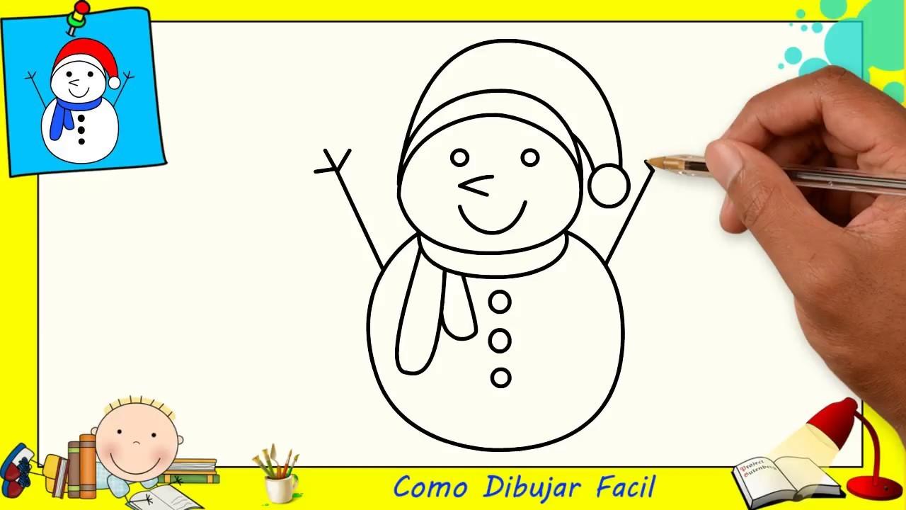 Como Dibujar Un Mu U00f1eco De Nieve Facil Paso A Paso Para