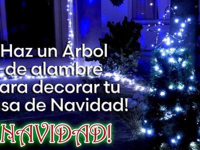 Como Hacer un Arbol con alambre y Luces para adornar esta Navidad