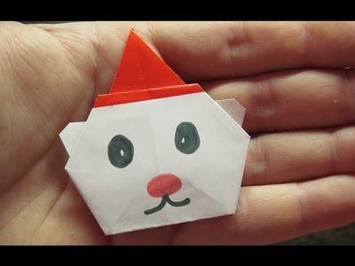 Como hacer un OSO NAVIDEÑO Super Cool | Origamis de papel faciles de hacer