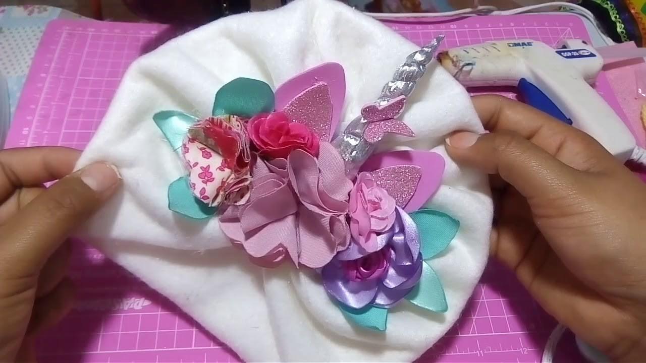 COMO HACER UN Turbante de unicornio con pedrería. HOW to MAKE a turban. moños, balacas