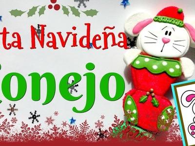 Como hacer una Bota Navideña - Conejo - Bomgoletas - Navidad2017