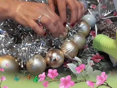Como hacer una corona de esferas