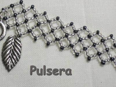 Como hacer una pulsera de rombos How to make a diamond bracelet