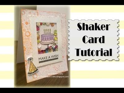 Cómo hacer una Shaker Card Fácil de Cumpleaños | Luisa PaperCrafts