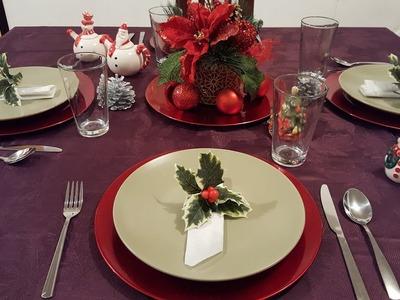 Como poner la mesa para navidad
