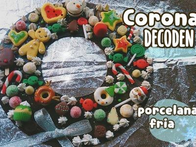 Corona decoden navidad #3 PORCELANA FRIA. CLAY