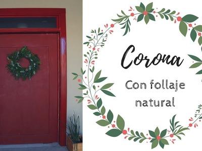 CORONA NAVIDEÑA CON FOLLAJE NATURAL | DIY | Pabla en casa