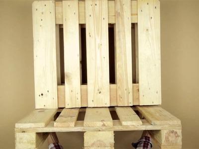 Crear una mesa y una silla con palés