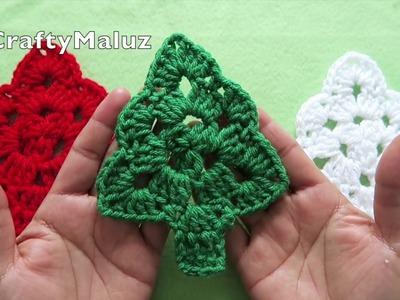 ♥CROCHET TUTORIAL | ÁRBOL DE NAVIDAD A CROCHET | como hacer un árbol de navidad adorno navideño